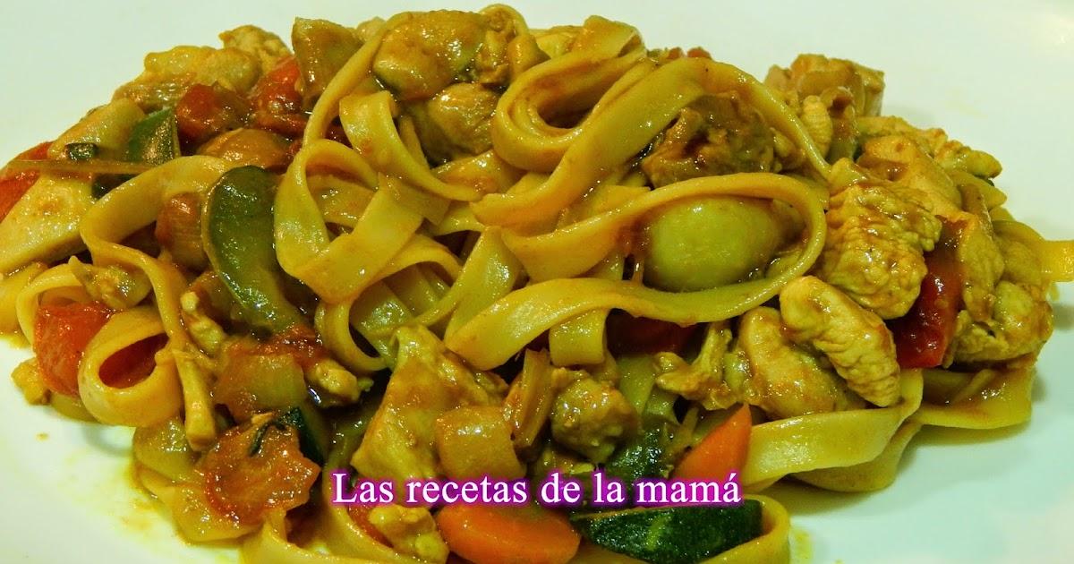 Las recetas de la mam receta de tallarines con verduras - Superchef cf100 ...
