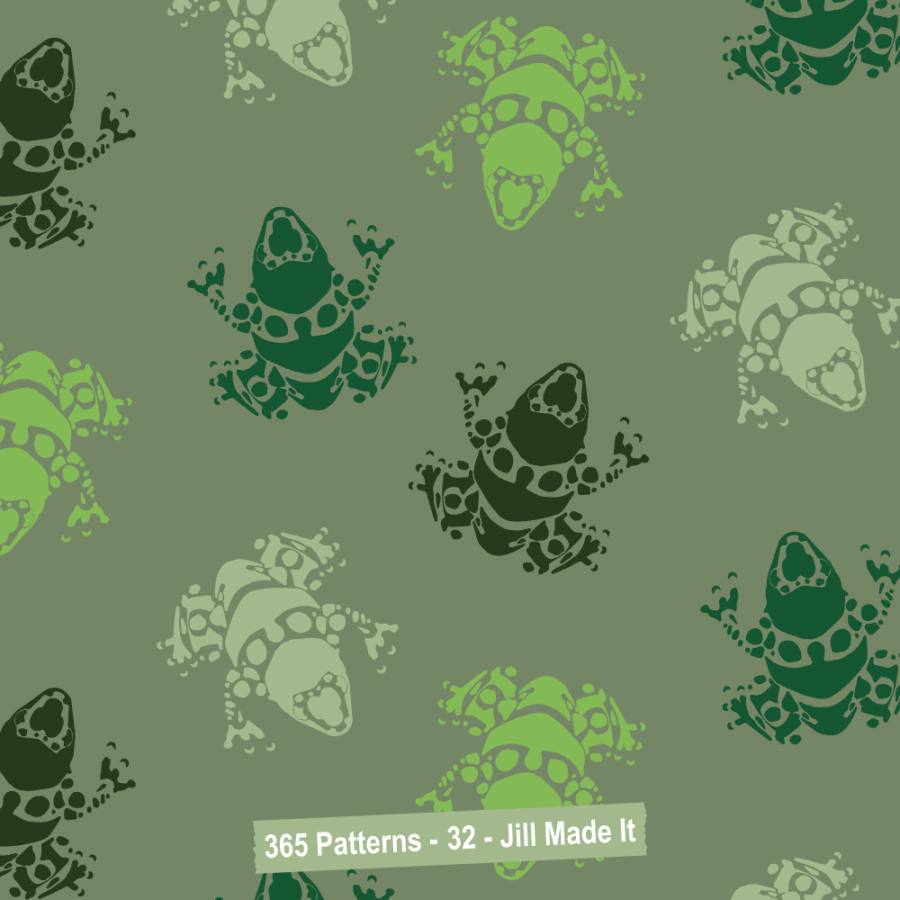 365 Patterns: Camouflage Frogs