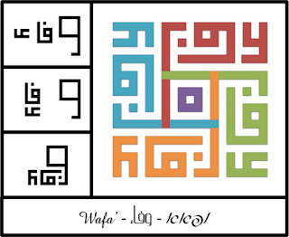 Wafa Kufi Calligraphy With Explanation Kanvas Musafir Muda