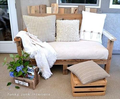 sofa mewah dari palet bekas