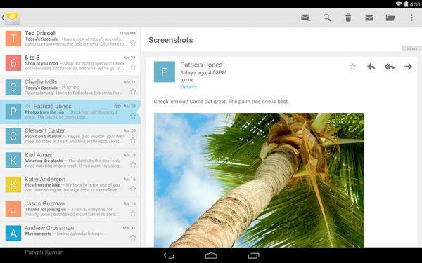 Google lanza su aplicación de correo electrónico para Android