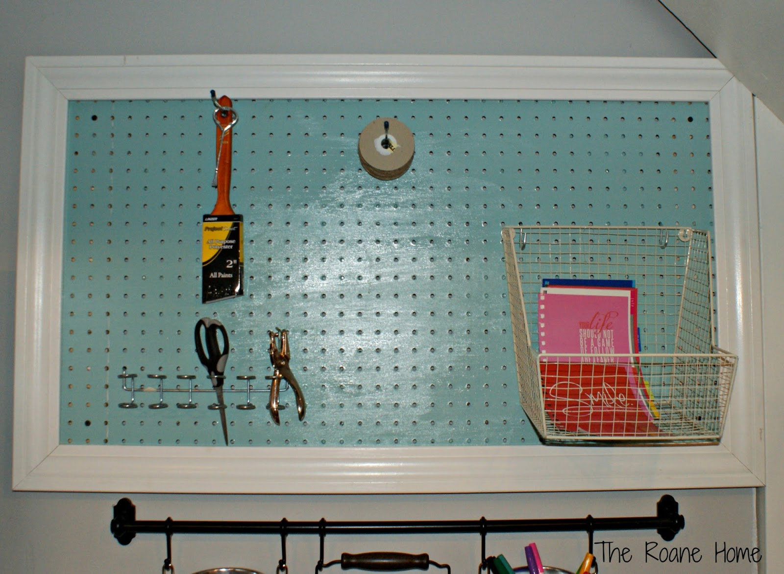 The Roane Home: Pegboard for the craft area