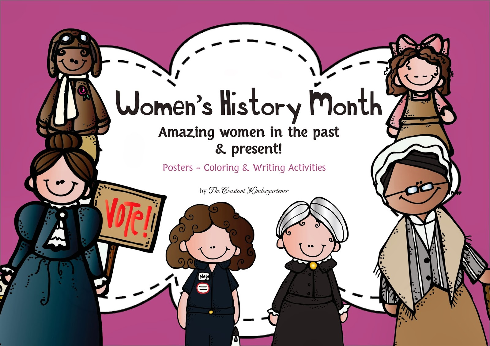Free coloring pages black history month - Women S History Month Amazing Women Posters Coloring And Writing