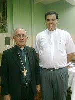Dom Rafael Bispo Auxiliar de Curitiba e Pe.Osmair Diretor Espiritual do A O