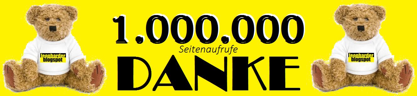 Danke für , jetzt schon mehr als , 1.000.000 Seitenaufrufe