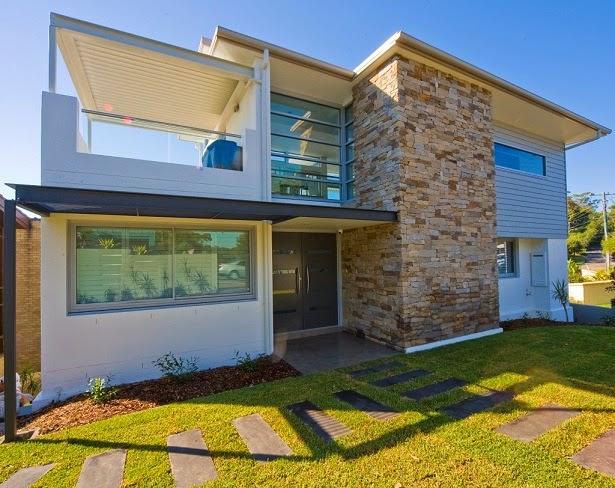 Fachadas de casas modernas fachadas de casas modernas grandes for Fachadas de casas modernas con piedra de una planta
