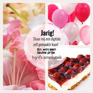 Digitale verjaardagscandy/kaart Ingrid!!