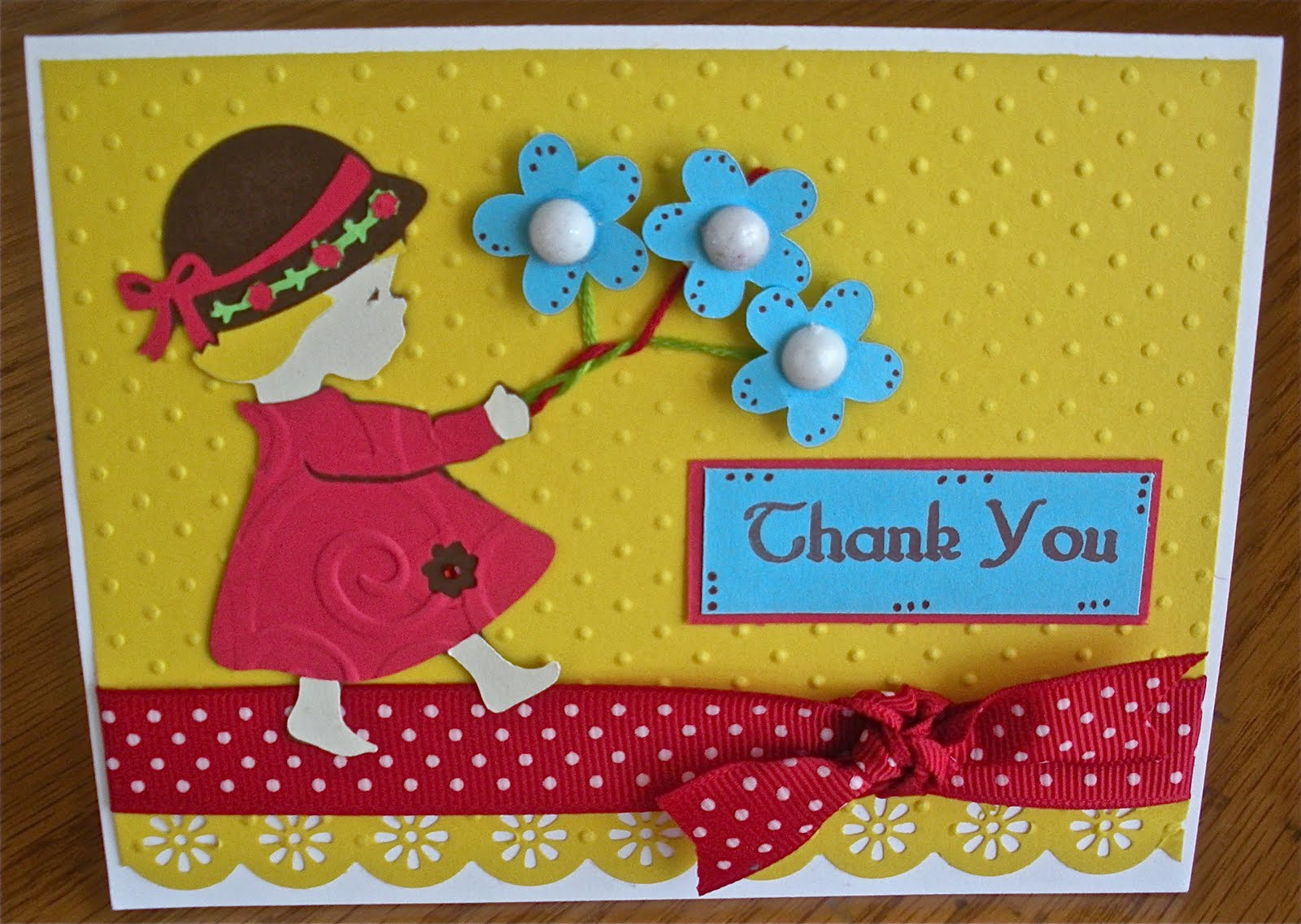 Attractive Card Making Ideas With Cricut Part - 11: Thank You Card. Welcome To Funky Cards
