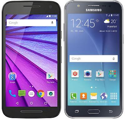 Motorola Moto G (3ª Gen) vs Samsung Galaxy J5
