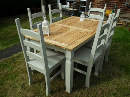 Dining Table Shabby Chic Dining Table Diy