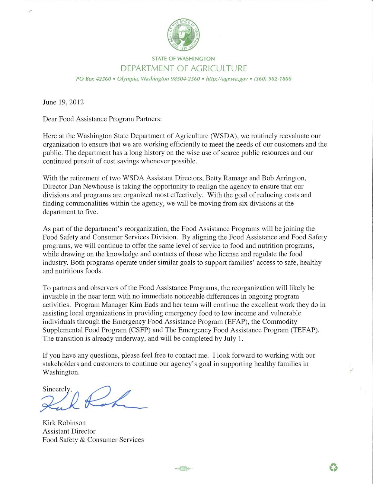 Washington Food Coalition News June 2012