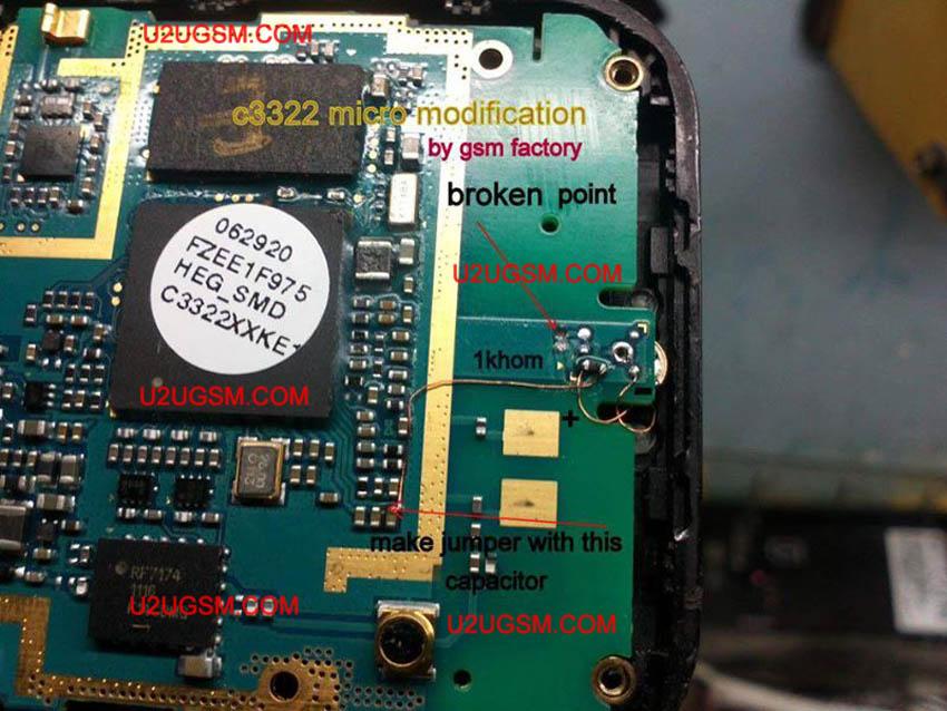 Samsung C3322 Mic Ways Full Jumper Ti Fix Microphone