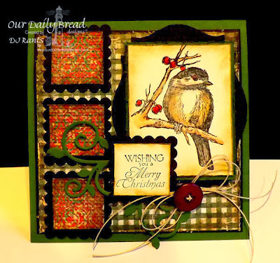 Our Daily Bread Designs, You Will Find Refuge, Holly Wreath, Custom Fancy Foliage Dies, Christmas Paper Collection 2013