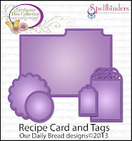 Our Daily Bread designs, Recipe Card and Tags