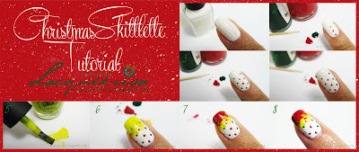 Lacqueerisa: Christmas Skittlette Tutorial (Middle Finger)