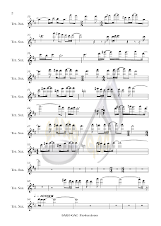 2 WE´RE ALL ALONE (Partitura para saxo tenor)