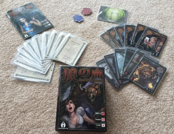Blood of the Werewolf card game contents