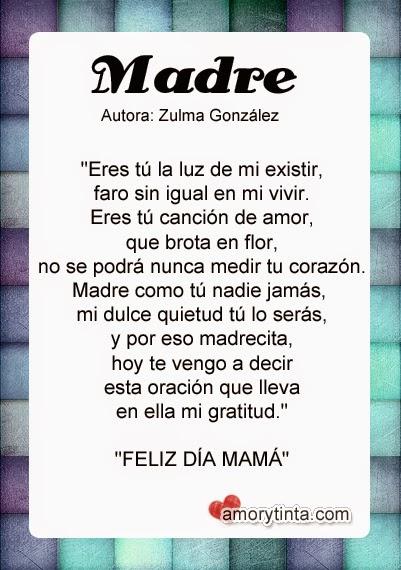 imagen con poesia del dia de las madre