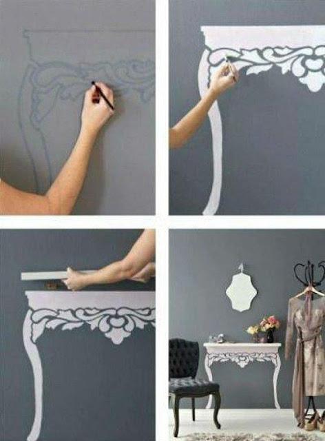 Selbermachen: Wandregal zu Stilmöbel mit Farbe wandeln
