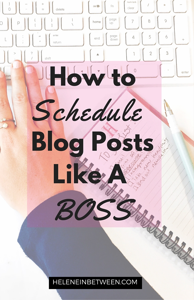 How to Schedule Blog Posts Like a Boss