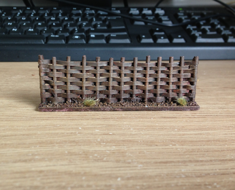 Do You Have A Flag?: Simple Scenery: Making 28mm Wattle Fences