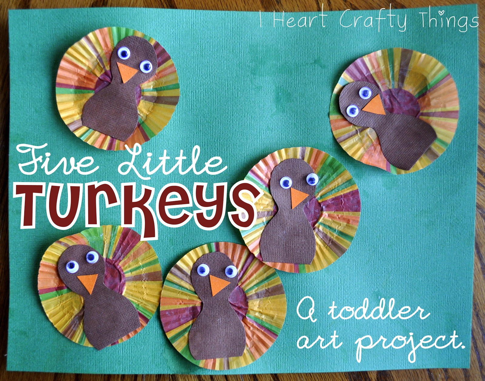 Five little turkeys craft i heart crafty things for Craft ideas for little kids