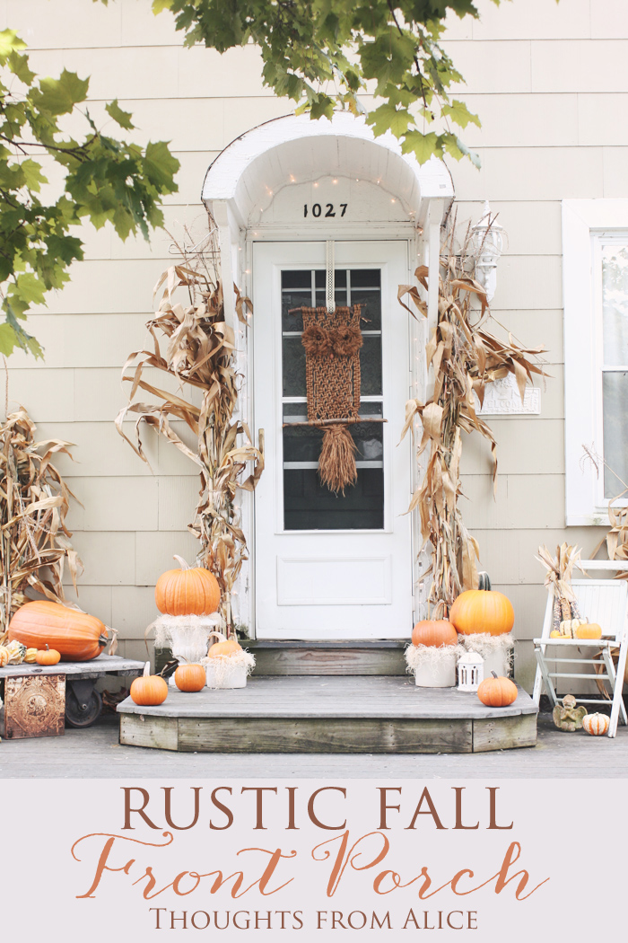 Rustic fall front porch for Rustic front porch