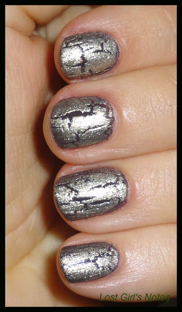 Sally Hansen crackle nail polish overcoat swatch