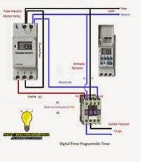esquema reloj digital timer programmable timer