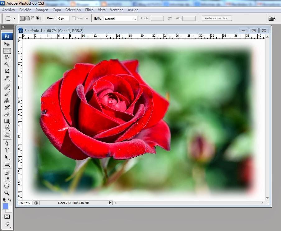 AYTUTO: Difuminar borde de una imagen con PHOTOSHOP