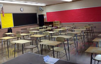 empty ugly classroom