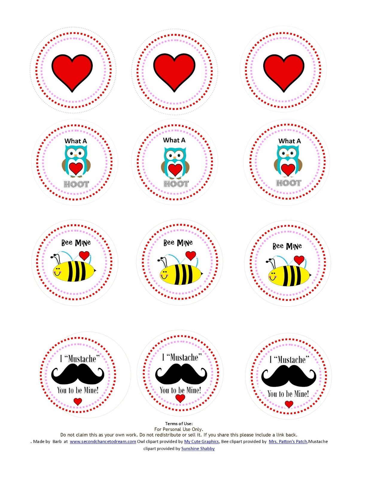 Second Chance to Dream: Printable Valentine's Day Cards and