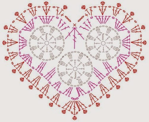 Free Crochet Patterns In Symbols : Free crochet patterns and video tutorials: crochet hearts ...