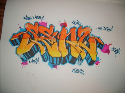 Free Yellow Orange Graffiti Names Design Anna Ideas By