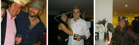 Fiesta de sombreros para un 40 cumpleaños
