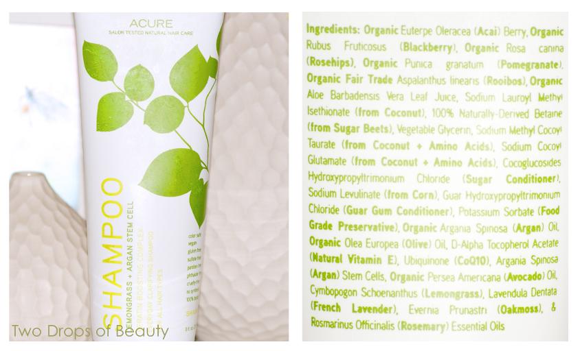 шампунь, аргановое масло, лемонграсс, acure organic