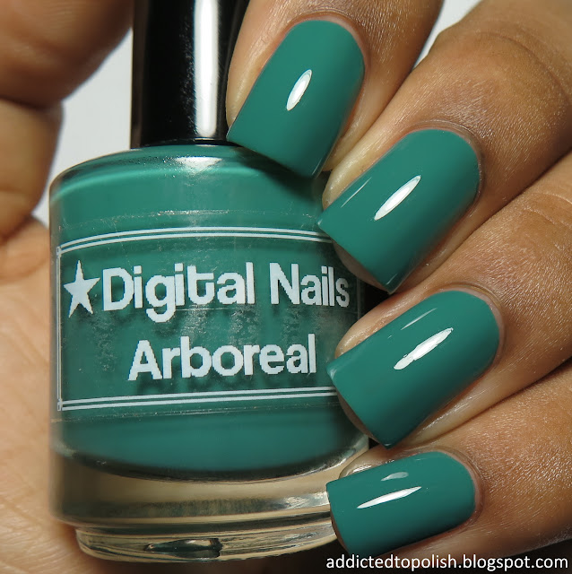 digital nails arboreal creme a la mode box
