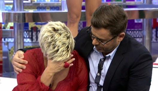 Terelu Campos llorando con Jorge Javier