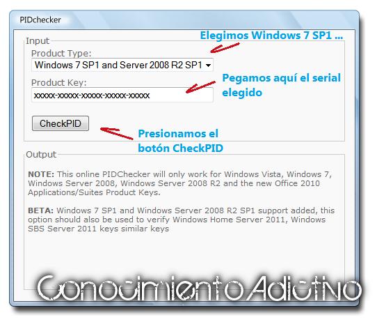 Check windows 7 key validity online