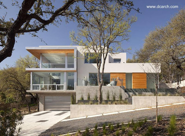 Casa residencial americana estilo Contemporáneo