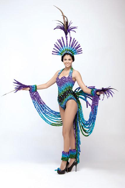 Srta. Colombia 2011-2012. Desfile en traje artesanal Cauca: Jenniffer Martínez Martínez