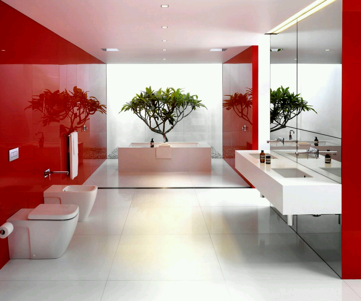 New Home Designs Latest Luxury Modern Bathrooms Designs Decoration
