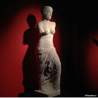 venus en Lego Ntahan Sawaya expo The Art Of Brick Paris Porte de Versailles