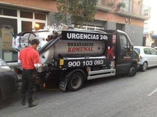 Averías con camión cuba en Barcelona