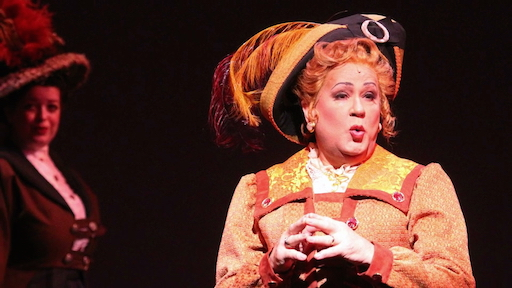 "Lee Roy Reams stars as ""Dolly Levi"" in HELLO, DOLLY! at The Wick Theater"