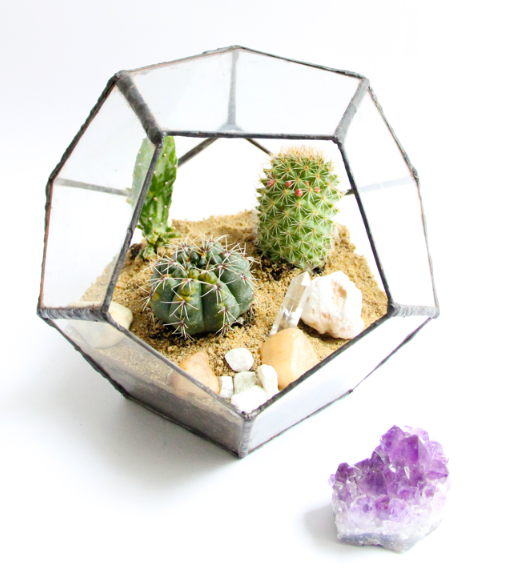 handmade, hand crafted designer, glass terrarium