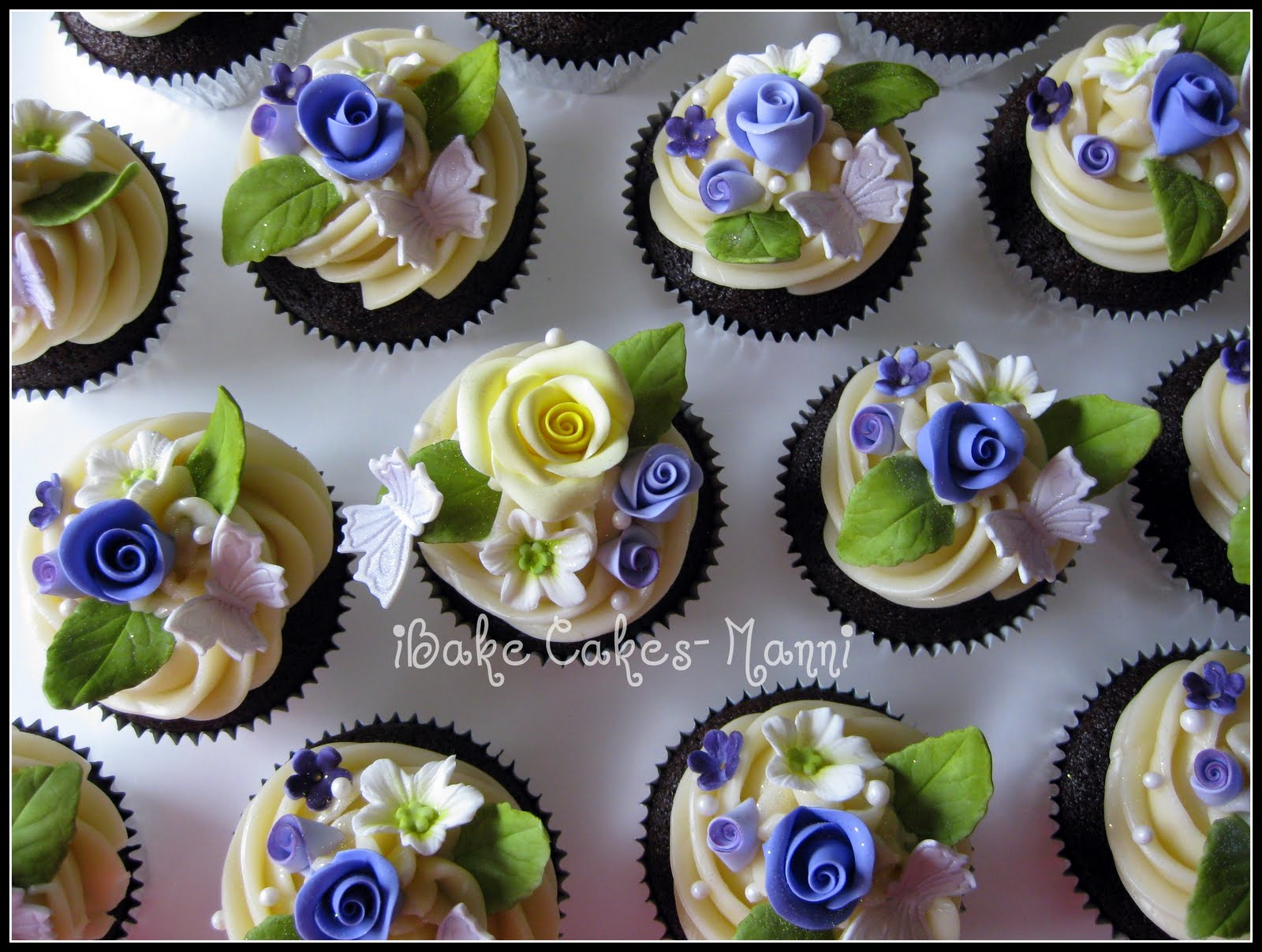 Flower Cupcakes Recipes — Dishmaps