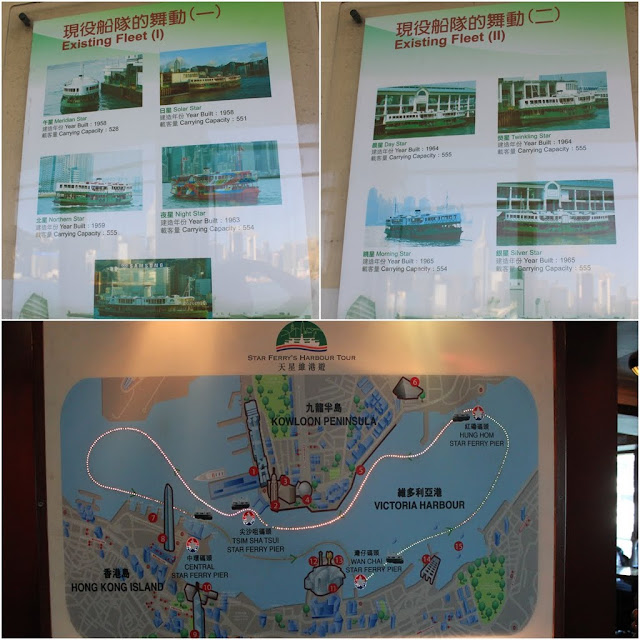 The history of Star Ferry and the route of the tour cruise at Star Ferry Harbour Cruise in Hong Kong