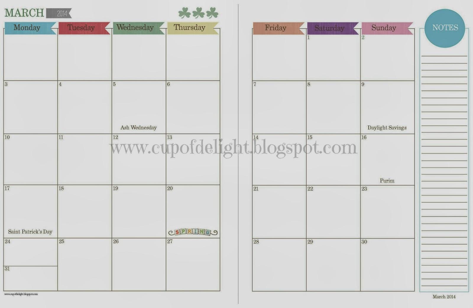 Calendar Printables Monthly | Calendar Template 2016
