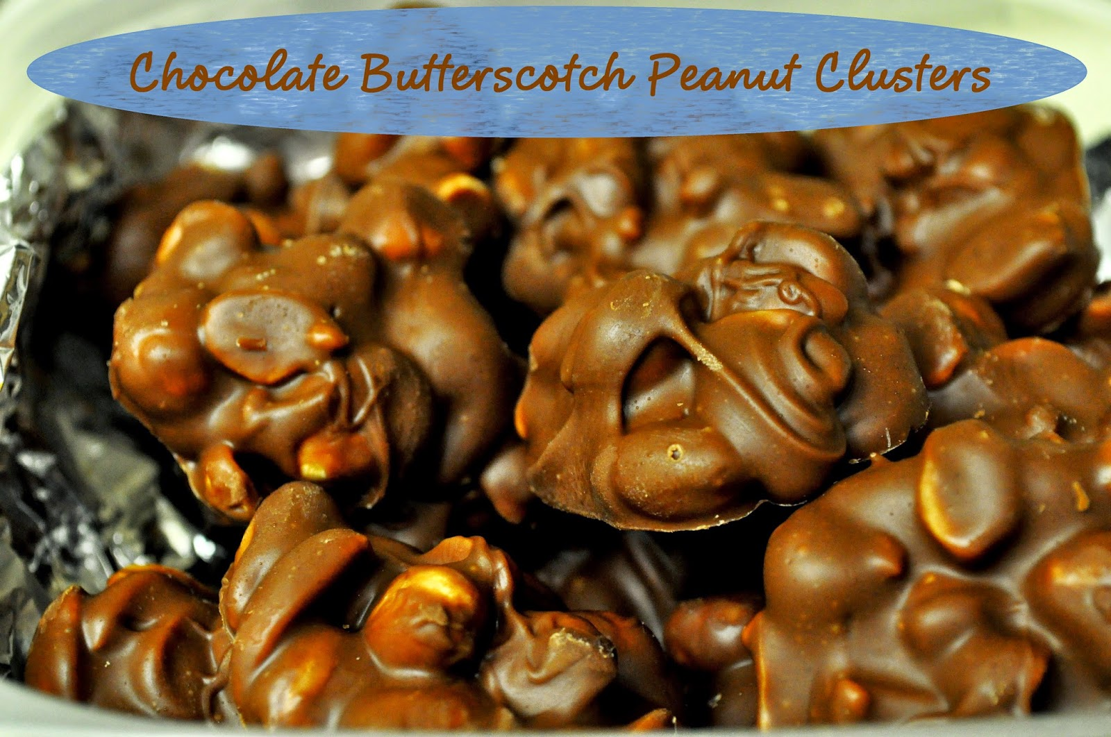 how to make chocolate clusters with peanuts